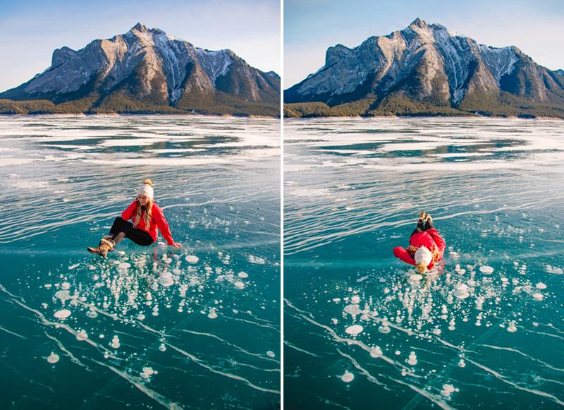 Abraham Lake Alberta Ice Bubbles
