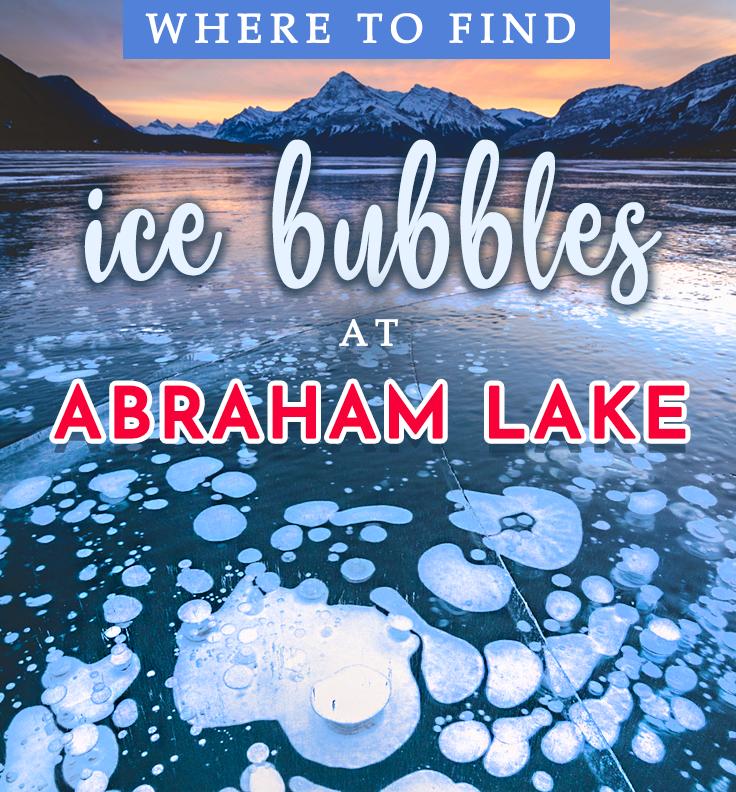 Abraham Lake Alberta Canada Ice Bubbles
