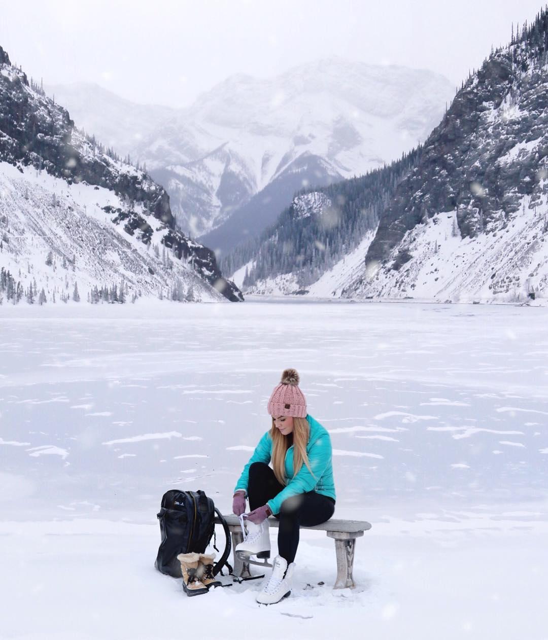 Ice Skating in Banff