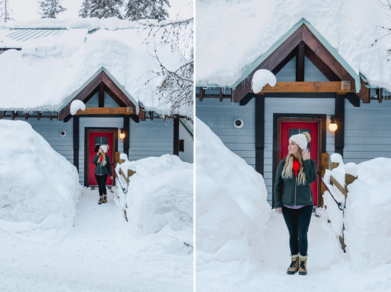 Exploring all of the cute cabins at Emerald Lake Lodge
