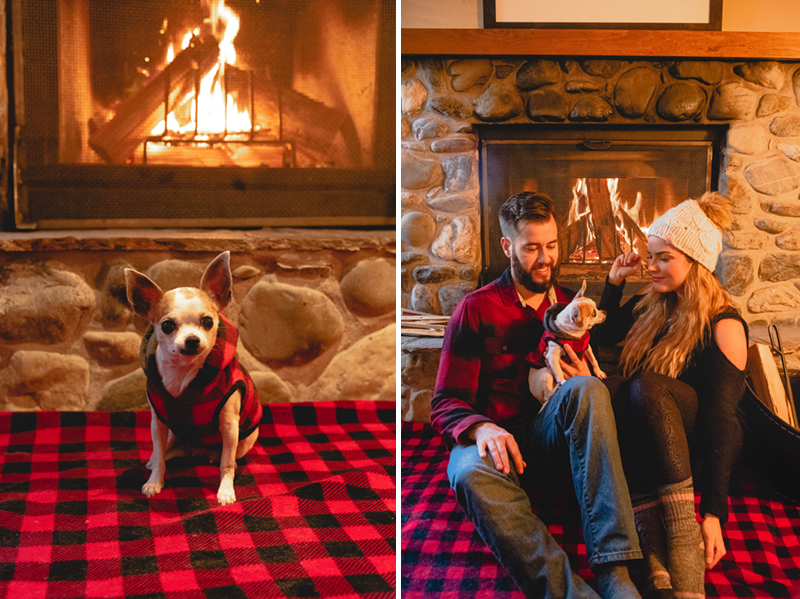 Toasty warm with in-room wood-burning fireplace at Emerald Lake Lodge
