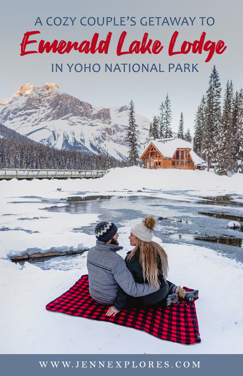Emerald Lake Lodge in Yoho National Park is the perfection place for a cozy couple's getaway in a winter wonderland! www.jennexplores.com