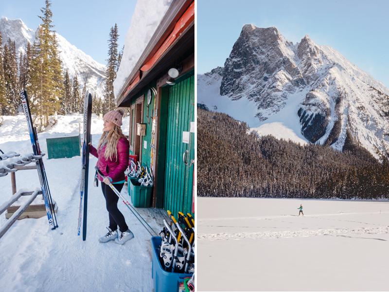 Cross-country skiing at Emerald Lake Lodge